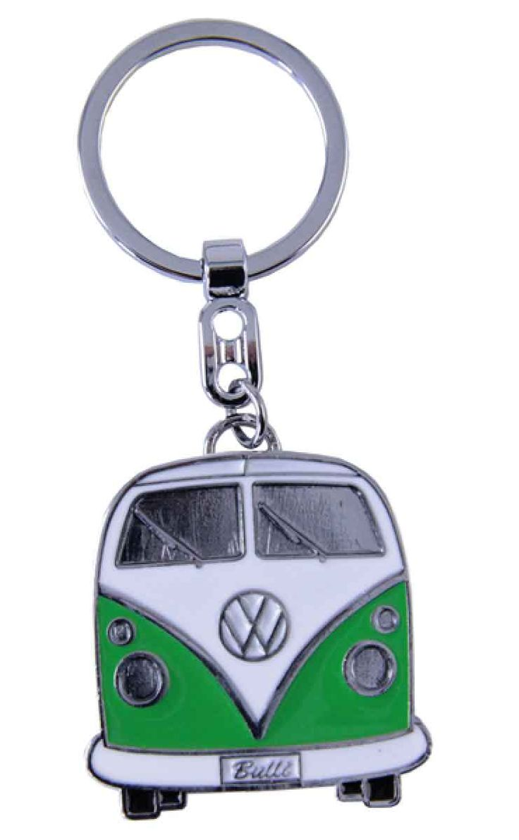 VW Volkswagen Kombi Key Ring Green