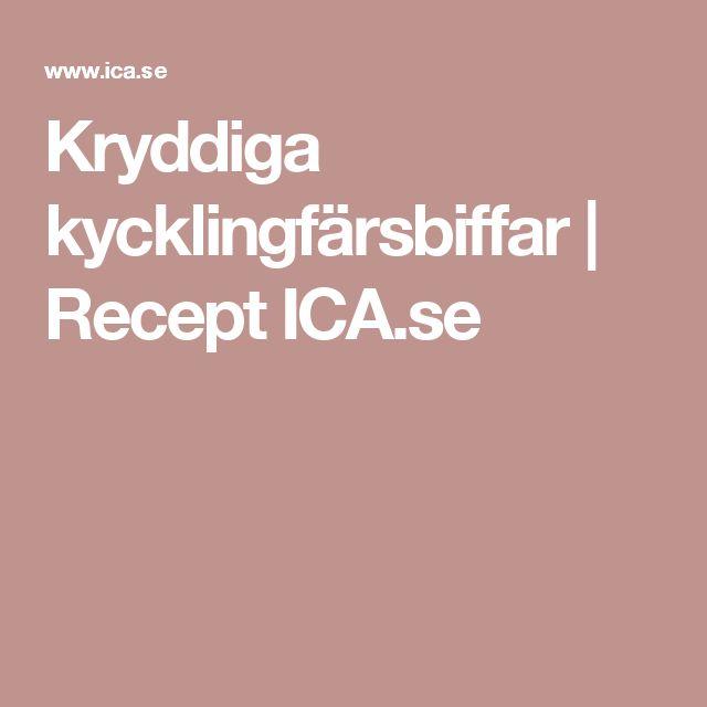 Kryddiga kycklingfärsbiffar   Recept ICA.se