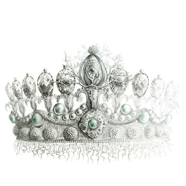 illustration mode bijoux couronne de reine Florence Gendre