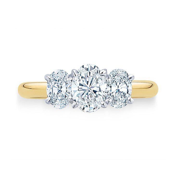 #Oval Cut #Trilogy #Ring   #exquisite #diamonds #engagement #wedding   #paulbram