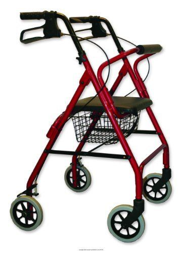 Lightweight Rollator W/Loop Brakes, Rollator Alum W-Loop Brk Bu, (1 EACH, 1 EACH) by Invacare. $233.44. (Item Number and Quantity: UHS-ISG1025BUR-1EACH) Lightweight Rollator W/Loop Brakes, Rollator Alum W-Loop Brk Bu Color-Burgundy, - (1 EACH, 1 EACH) - Lightweight aluminum frame with adjustable height handles 6 PU front and rear tires Folds easily for storage and transportation Easy squeeze loop brake system Two button removable back rest All aluminum welded Warranty: 3 years...