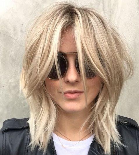 Cheveux Mi-longs : 17 Modèles de Mèches, ombré Hair eT Colorations Unies Pour…