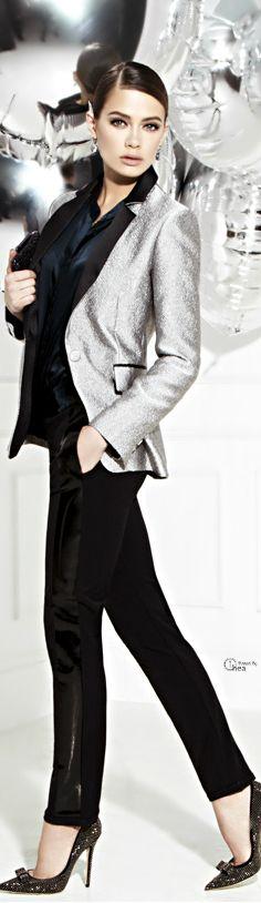 Iris Ink ● Metallic jacquard blazer- Holiday Glamour  #LadyLuxuryDesigns