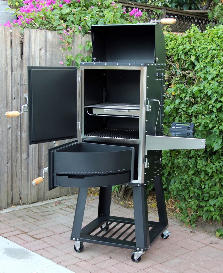 BBQ-Smoker....sure would like to find out where this smoker is available.  Looks very interesting for small cooks.