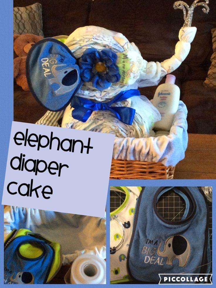 Elephant diaper cake #elephant theme nursery#craftyconjuring/youtube