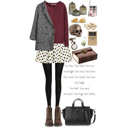 Polka Dot Skirt Look4 #gyrationstyle