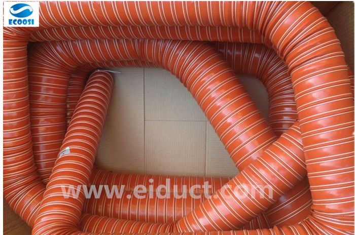 Exhaust gas air duct hose