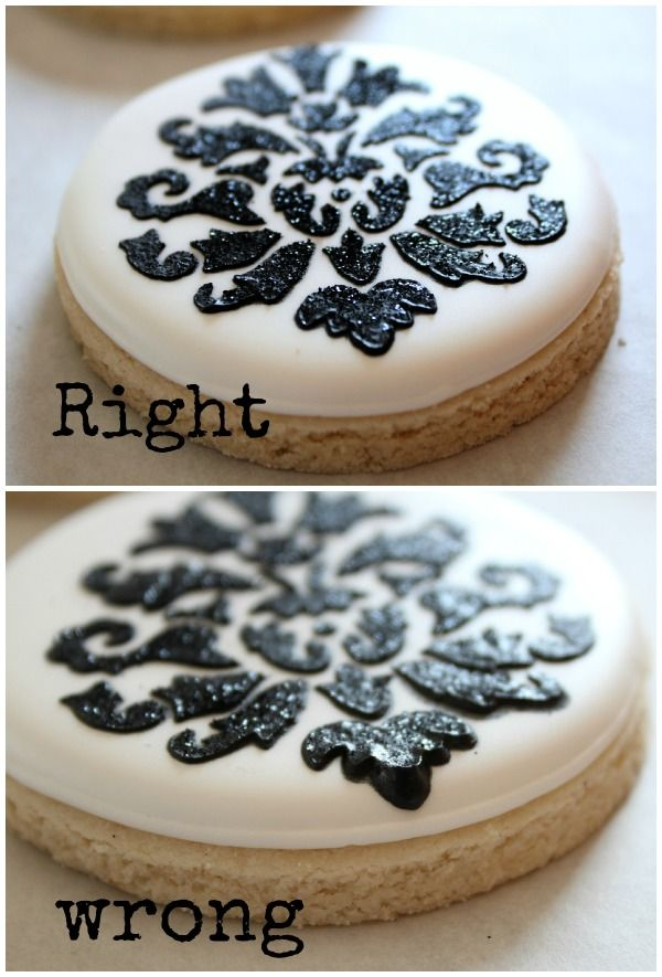 Cookie Stenciling Right and Wrong