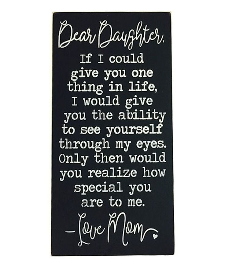 This 'Dear Daughter' Wall Sign by Sara's Signs is perfect! #zulilyfinds