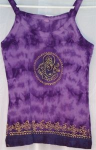 Tie dyed Ganesha top purple.