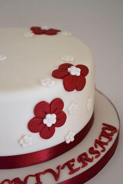 ruby anniversary cakes   Ruby Wedding Anniversary Cake