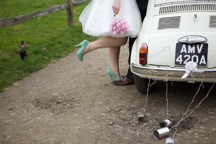 Second shooting for Lisa Devlin.  Cowdray.  Sussex wedding.  Wedding Photography.  Details. Vintage wedding.  Fiat 500. Vintage car. Green shoes.  sussex based vintage style photographer.  www.ruby-roux.com