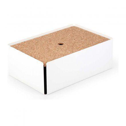Kabelbox CHARGE-BOX weiß mit Kork