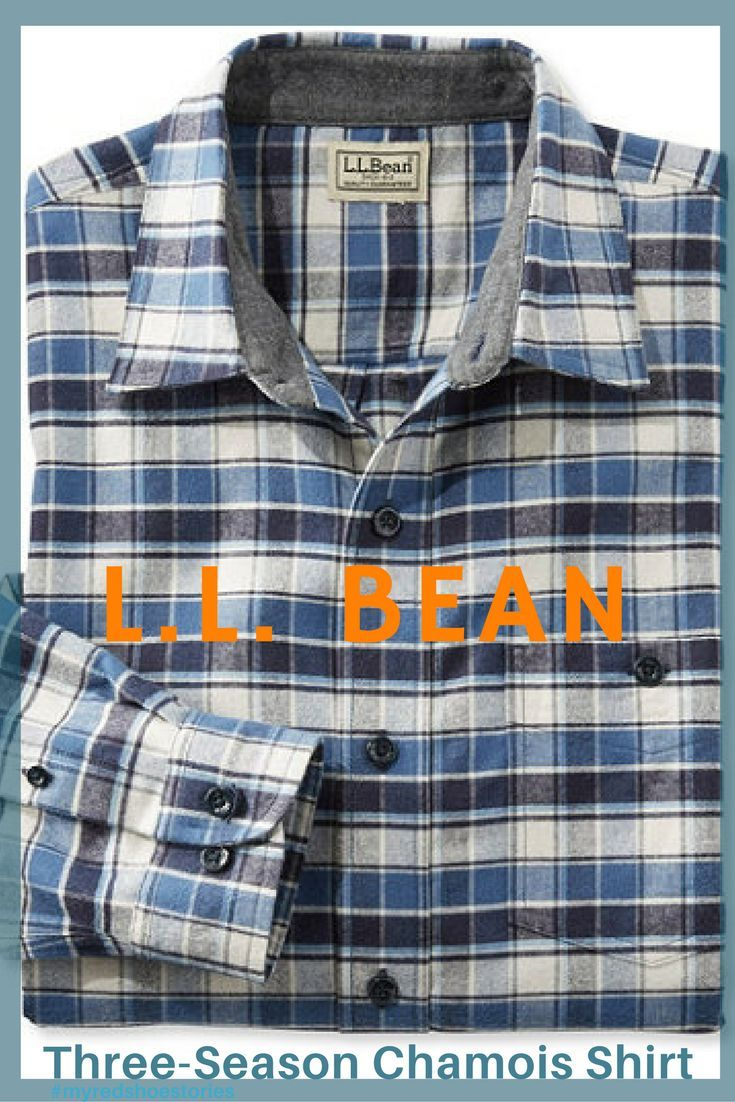 L.L. Bean Three-Season Chamois Shirt, Slightly Fitted Plaid Men's Shirt. -A lighter, more modern take on our original shirt. True to its iconic style in extra-soft Portuguese flannel, only slightly fitted and even more versatile. You'll wear it much further into warmer months and more places than ever before. #ad #mensshirt #llbean #chamoisshirt #myredshoestories