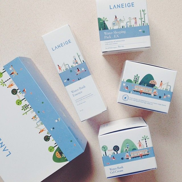 So excited to just have received the limited edition packages I illustrated for Korean cosmetics brand Laneige!