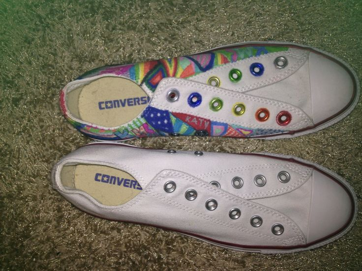 should I bleach the colored one or draw on the white one? comment please!