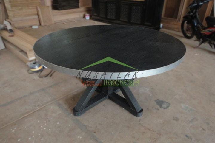 Narada Round Dining Room Table - Luxury Home Furniture Indonesia - Nusa Teak