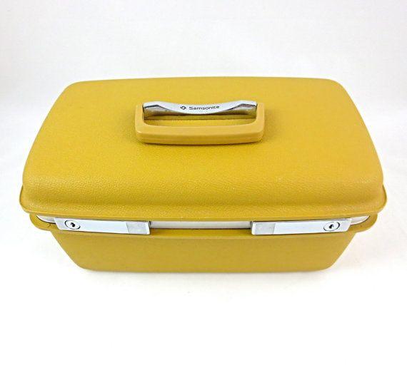 Samsonite Concord Train Case / Hard Case / Cosmetic Travel Case / Mustard Yellow