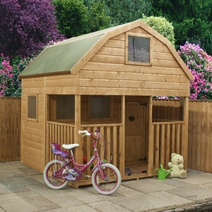buy mercia dutch barn playhouse with veranda x from our wooden playhouses range at tesco direct
