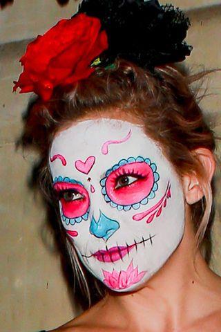 ber ideen zu mexikanische totenmaske auf pinterest hexe schminken halloween make up. Black Bedroom Furniture Sets. Home Design Ideas