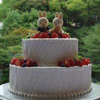 ミッフィールームもいいけど、椿山荘のミッフィーのウェディングプランで結婚式したい(笑)  #ミッフィーウェディングケーキ #ミッフィーウェディングプラン #ウェディング #ケーキ #cake #結婚式 #ミッフィー #miffy #nijntje #dickbruna #うさこちゃん