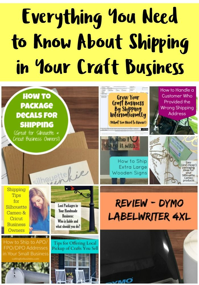 Everything You Need to Know About Shipping for Craft Businesses - Silhouette Cameo & Cricut Explore - by cuttingforbusiness.com