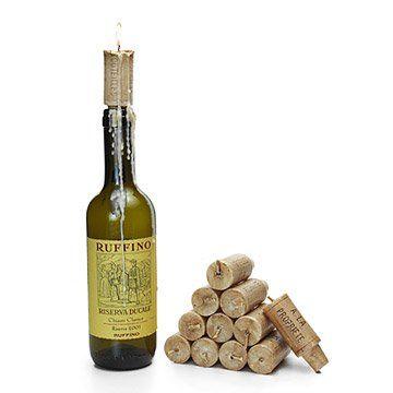 Wine Cork Candles - Set of 12