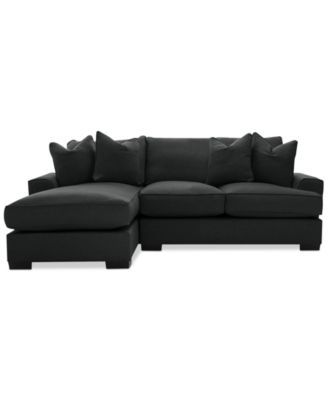 Ainsley 2-Piece Sectional with Chaise & 4 Toss Pillows, Created for Macy's | macys.com