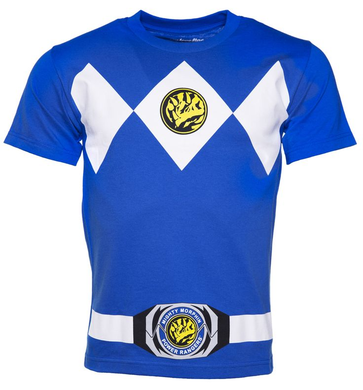 Mens Blue Power Rangers Costume T-Shirt Go go power rangers! If you were a fan of the mighty morphin gang back in the day, then this Blue Ranger tee is the ideal way to channel some of the Earth defenders attitude. http://www.MightGet.com/february-2017-3/mens-blue-power-rangers-costume-t-shirt.asp