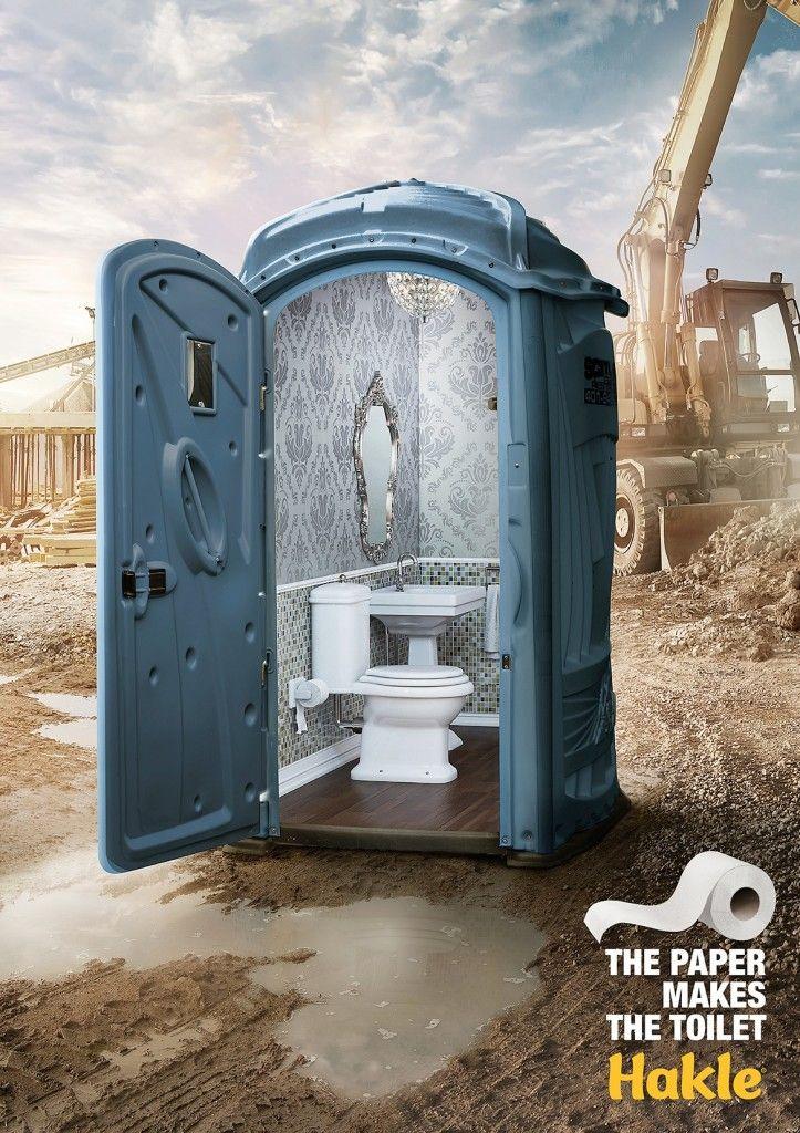 Hakle: The Paper Makes The Toilet. Advertising Agency: Leo Burnett, Berlin, Germany