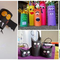 30 idées de bricolages à faire pour halloween juste avec des rouleaux de papier toilette...