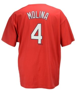Majestic Men's Big and Tall Yadier Molina St. Louis Cardinals T-Shirt - Red 3XL