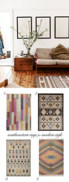 Vintage Modern Decor with Southwestern Rugs | Trend Center by Rugs Direct