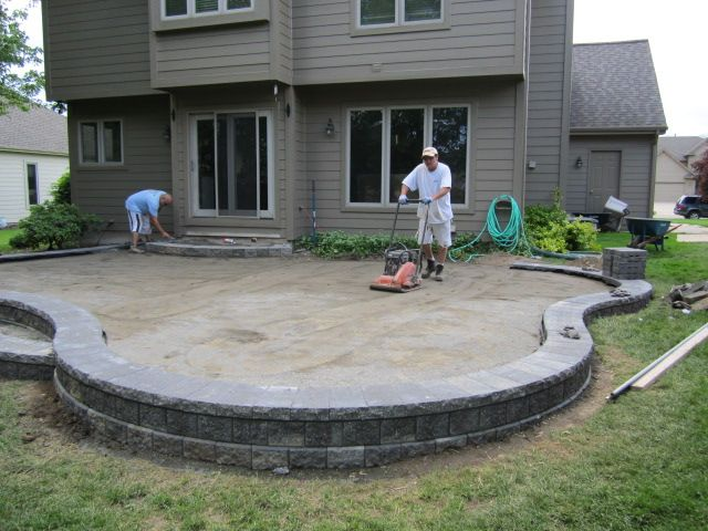 Raised Paver Patio Installing A Paver Patio   Installing A Patio May Seem  Like A Daunting Task Compacting It And Then Laying Your Pa.
