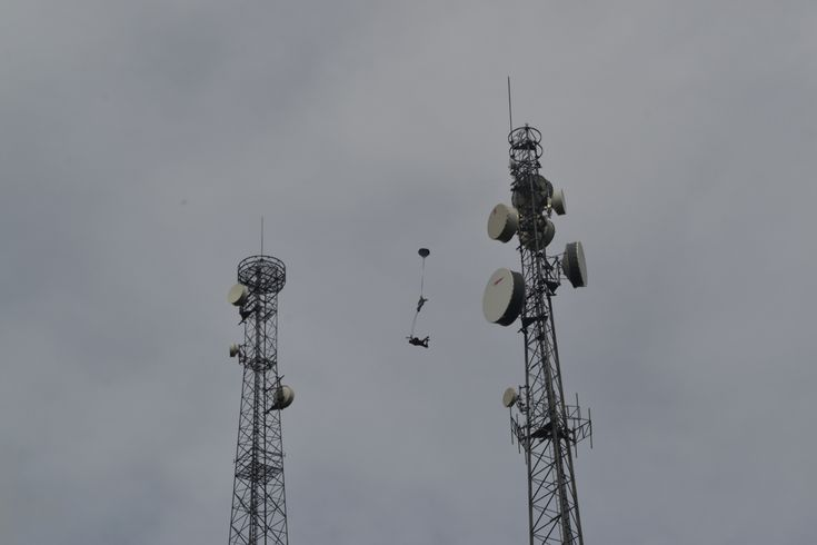 The Antenna Base Jump