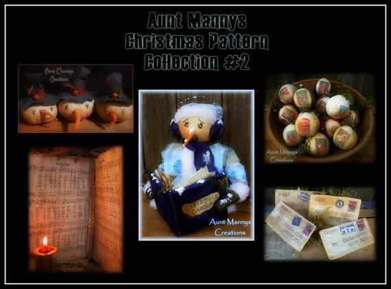 Primitive Christmas Pattern Collection 2 by auntmannyscreations