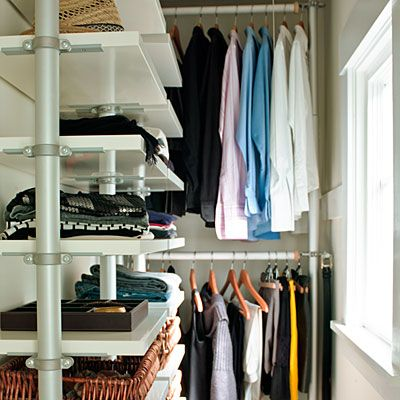 Take a peek inside Béa and Scott Johnson's shared minimalist closet