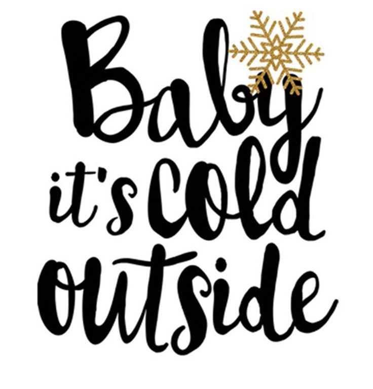 Baby It's Cold Outside Christmas Holiday Graphic T-Shirt - Niobe Clothing - 6