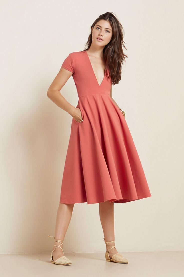 The Garnet Dress  https://thereformation.com/products/garnet-dress-watermelon