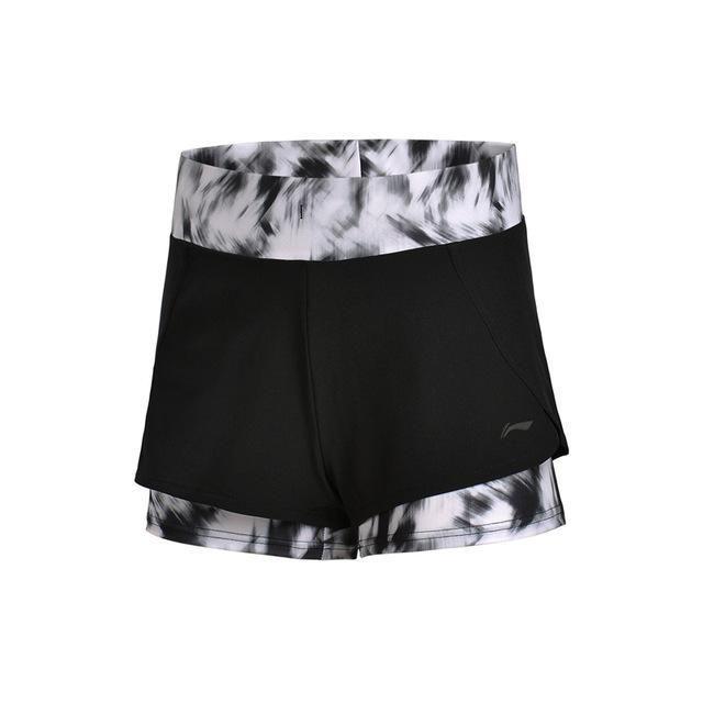 Li-Ning Women Training Shorts 88% Cotton 12% Spandex Flexible Breathable Comfort LiNing Sports