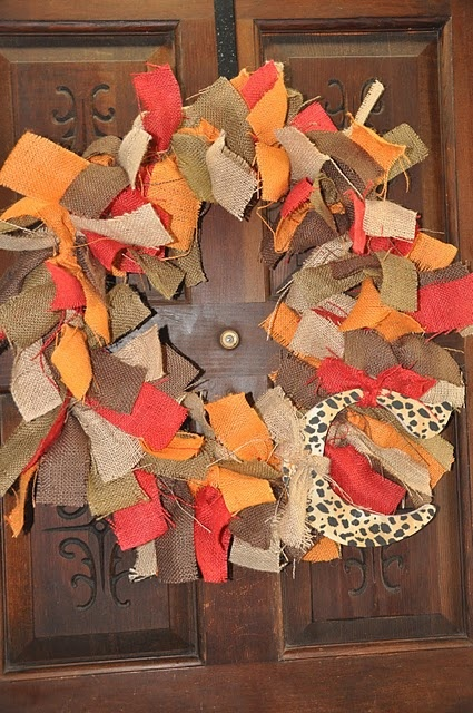 Great Diy tutorial on this crafty wreath and you can personalize it with colors and fabrics for any holiday.