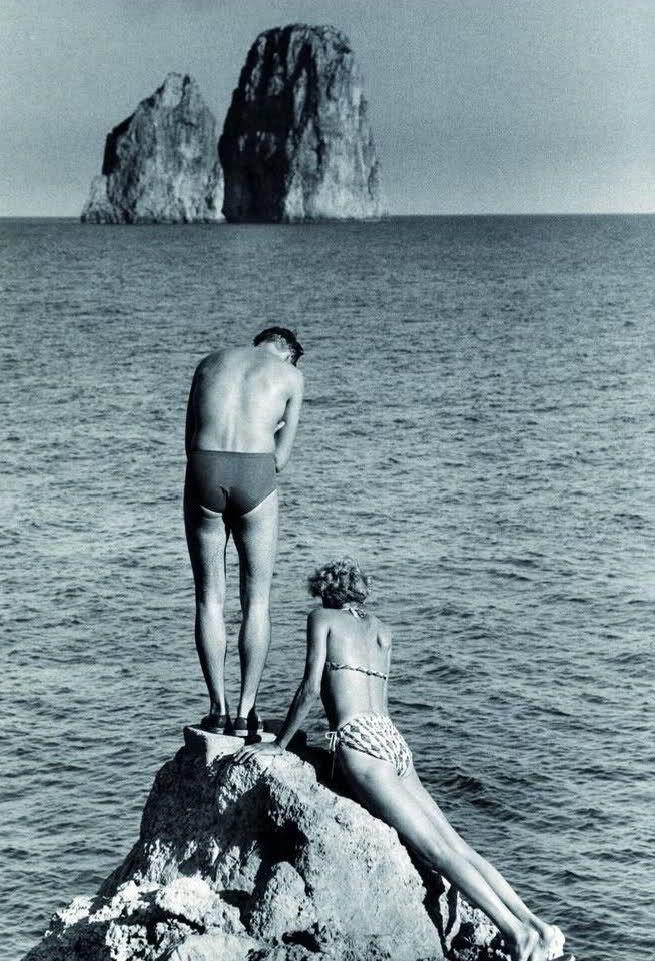 Italian Vintage Photographs ~ #Italy #Italian #vintage #photographs #history #culture Capri, 1951 Herbert List