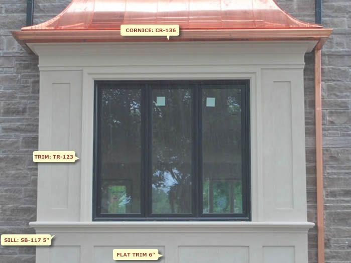 20 best Window moldings outside images on Pinterest Window