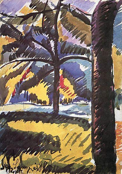 Fájl:Nemes Lampérth József painter Plant Detail of the City Park 1912.jpg