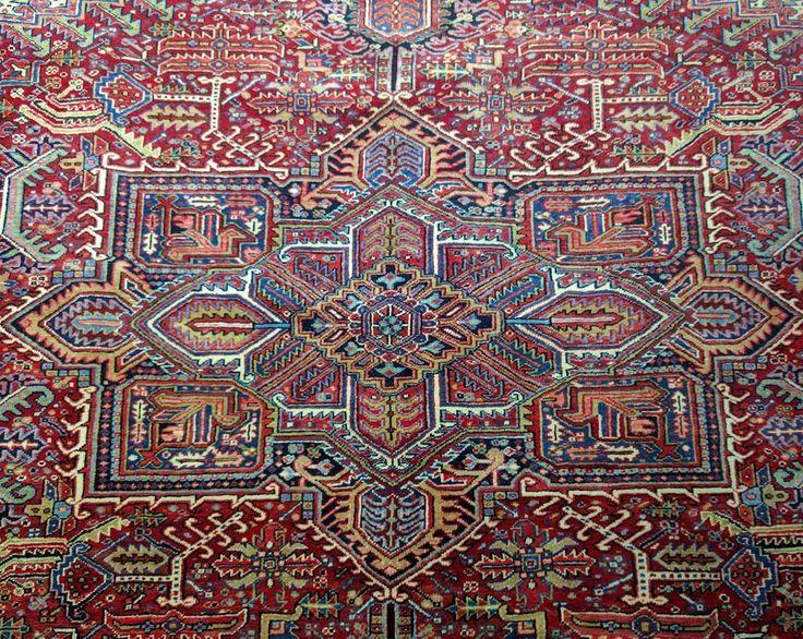 Just in: Large Persian Heriz Rug  #persianrug #persian #heriz #rug #persianrugs…