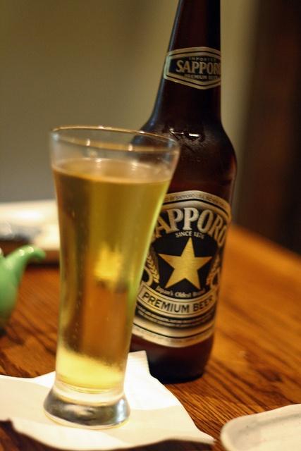 Sapporo Beer @ Sushi Izakaya Gaku by jKatYo, via Flickr
