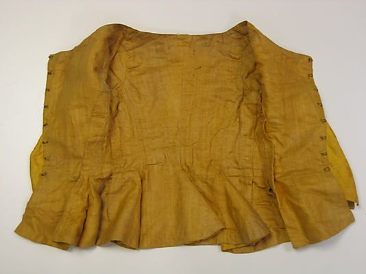 Jacket  Date: 1770s Culture: British Medium: silk Dimensions: Length at CB: 17 in. (43.2 cm) Credit Line: Purchase, Judith and Ira Sommer Gift, 2010 Accession Number: 2010.342