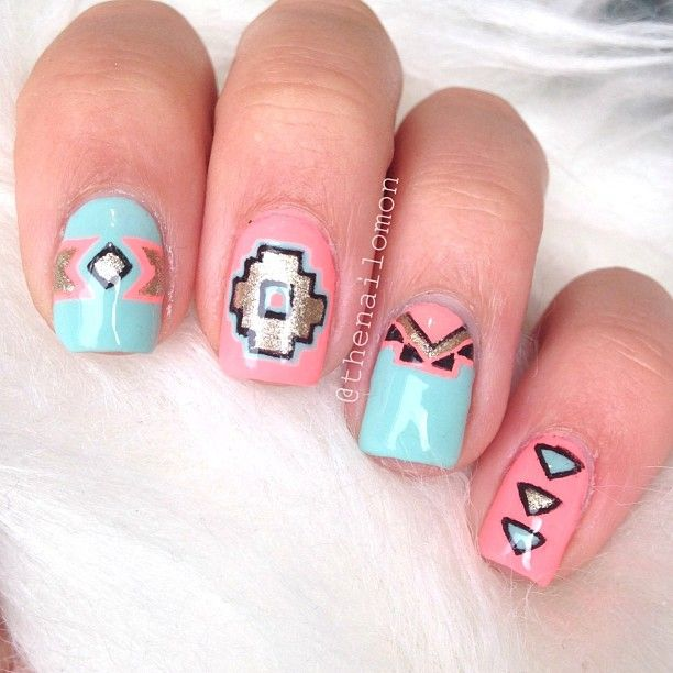 Tribal nails....LOVE :)