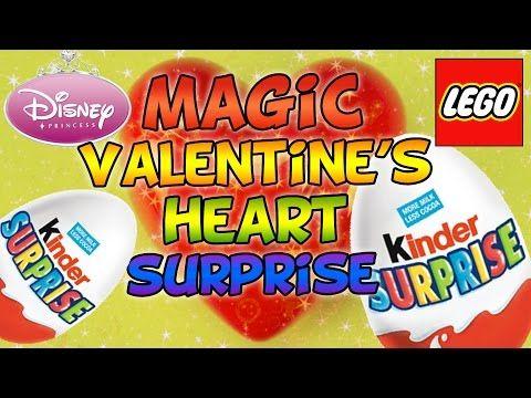 Lego Frozen Heart Magic Candy Valentines MLP Kinder Surprise Disney Princess Huevos Sorpresa Киндер