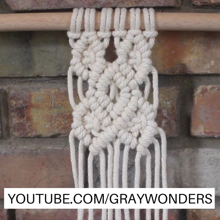 Macrame diamond pattern. Full tutorial on YouTube. #diy #macrame #macramewallhanging #macramewallart #macramedesign #macramepattern #macrametutorial #howtomacrame